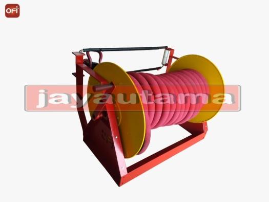 Floor mounted hose reel ofi