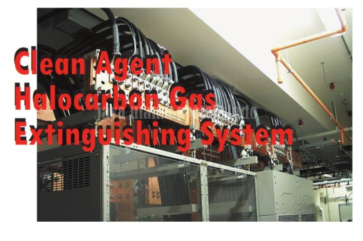 Clean Agent Halocarbon Gas Extinguishing System