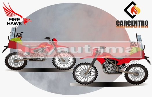 sepeda motor trail damkar