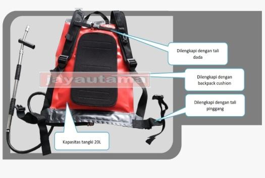 spesifikasi pompa punggung pemadam kebakaran