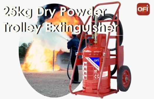 25 kg dry powder trolley extinguisher