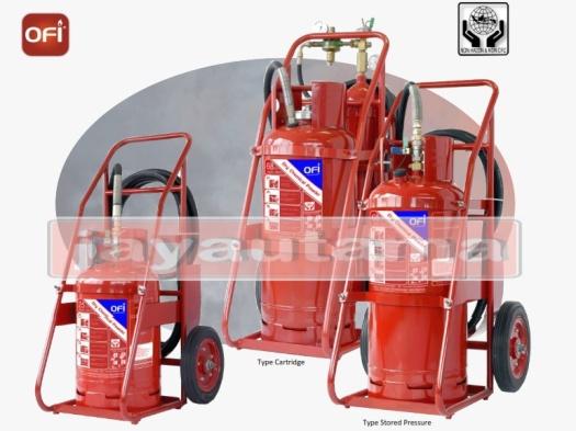 trolley dry powder fire extinguisher